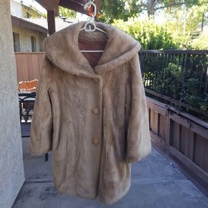 Jackets & Blazers - Long Vintage Faux Fur Coat